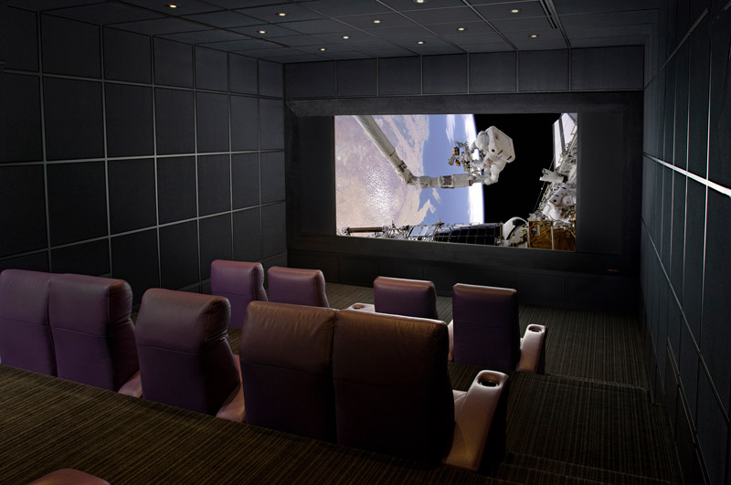 modern upscale in home theater