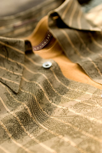 commercial advertising photograph ofmans gold shirt